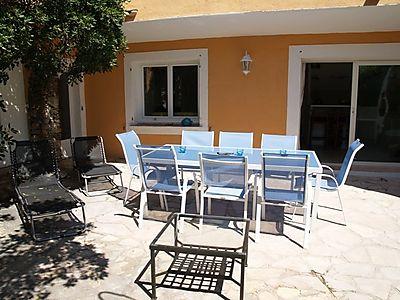 Terrasse der Ferienwohnung Fleur de Lilas