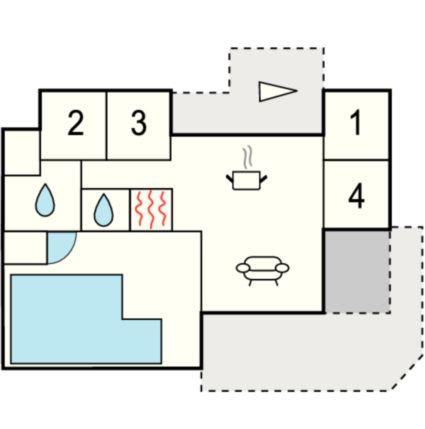 ferienhaus l kken f r 10 personen bei tourist online buchen nr 317986. Black Bedroom Furniture Sets. Home Design Ideas