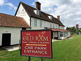 The Old Ram Coaching Inn in Tivetshall Saint Margaret, Norfolk, Großbritannien