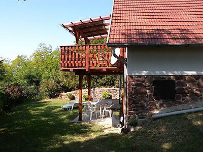 Außenansicht - Überdachte Terrasse mit Panoramabli