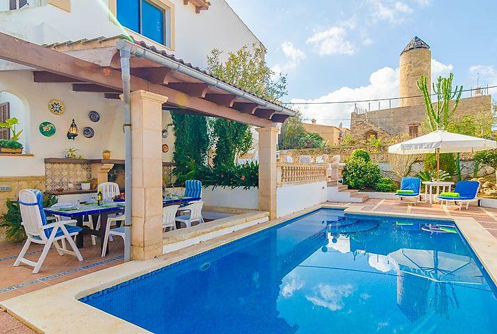 Villa Can Nicolau In Colonia De Sant Pere Ostkuste Mallorca Fur 8 Personen Spanien