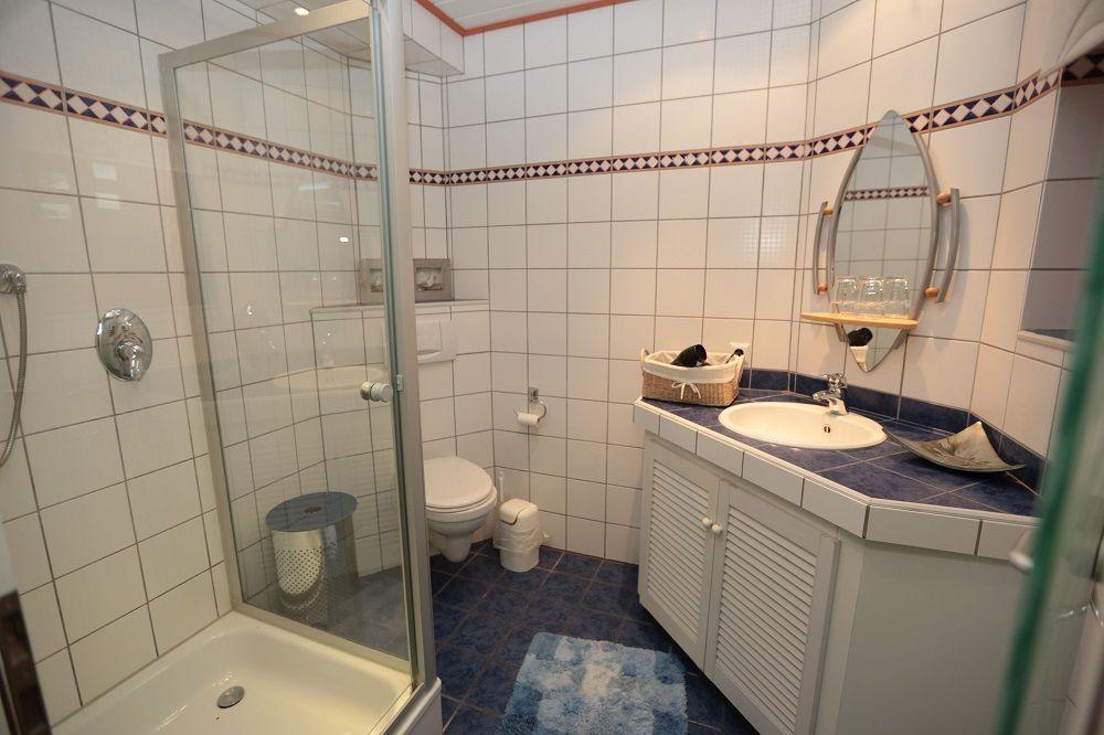 Badezimmer Ibbenburen.Ferienwohnung Landblick Schulte Ibbenburen Dorenthe