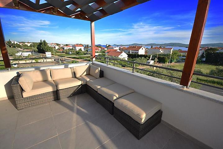 Panoramic view from big terrace with private jacuzzi
