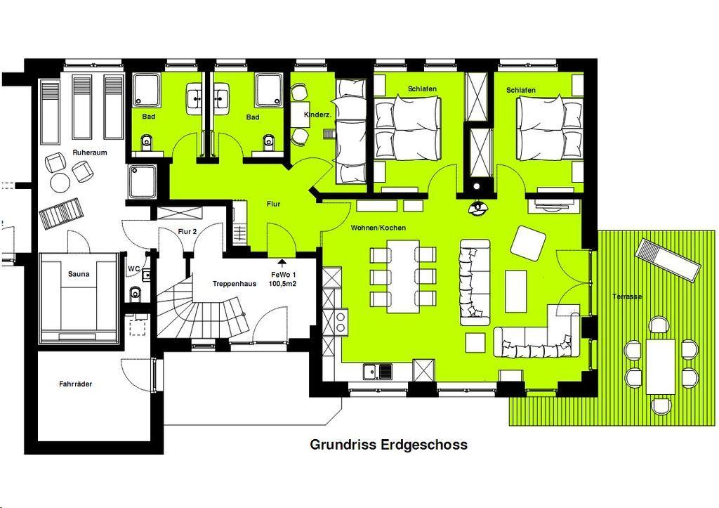 3 komf ferienwohnungen am selliner see 1 6 pers 55 100 m im ostseebad sellin insel. Black Bedroom Furniture Sets. Home Design Ideas